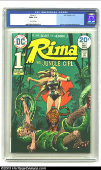 Rima the Jungle Girl #1 (DC, 1974) CGC NM+ 9.6 Off-white pages. Joe Kubert cover, Nestor Redondo art, origin Rima, the J...