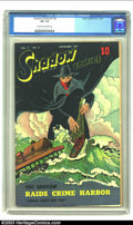 Golden Age (1938-1955):Crime, Shadow Comics Vol. 7, #8 (Street & Smith, 1947) CGC VF- 7.5 Cream to off-white pages. The Shadow raids Crime Harbor. Overstr...