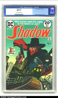 The Shadow #1 (DC, 1973) CGC NM- 9.2 Off-white to white pages. Beautiful Mike Kaluta artwork. Overstreet 2003 NM 9.4 val...