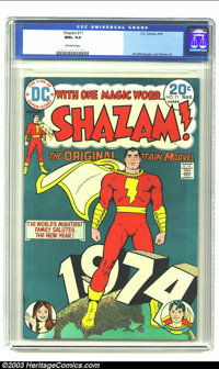 Shazam! #11 (DC, 1974) CGC NM+ 9.6 Off-white pages. Schaffenberger and Oksner art. Overstreet 2003 NM 9.4 value = $9. Fr...