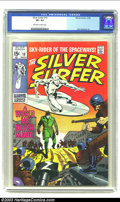 Silver Age (1956-1969):Superhero, The Silver Surfer #10 (Marvel, 1969) CGC VF+ 8.5 Off-white to white pages. Beautiful book with art by John Buscema. Overstre...