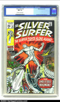 Silver Age (1956-1969):Superhero, The Silver Surfer #18 (Marvel, 1970) CGC NM- 9.2 Off-white to white pages. Jack Kirby art on this Near Mint book. Overstreet...