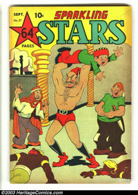 Sparkling Stars #27 (Holyoke Publications, 1947) Condition: FN. Adventure, crime, and humorous features. Overstreet 2003...