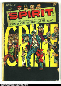 The Spirit #12 (Quality, 1948) Condition: GD/VG. Will Eisner cover. Overstreet 2003 GD 2.0 value = $35; VG 4.0 value = $...
