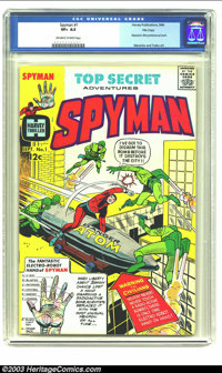 Spyman #1 File Copy (Harvey, 1966) CGC VF+ 8.5 Off-white to white pages. Steranko's first professional work; Steranko, A...