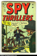 Golden Age (1938-1955):War, Spy Thrillers #2 (Atlas, 1955) Condition: VG-. Last pre-code issue. Overstreet 2003 VG 4.0 value = $26....