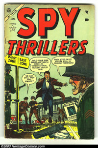 Spy Thrillers #2 (Atlas, 1955) Condition: VG-. Last pre-code issue. Overstreet 2003 VG 4.0 value = $26
