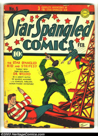 Star Spangled Comics #5 (DC, 1942) Condition GD+. Sherman cover. Overstreet 2003 GD 2.0 value = $109