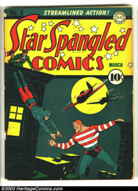 Star Spangled Comics #6 (DC, 1942) Condition: GD/VG. Sherman cover. Overstreet 2003 GD 2.0 value = $64; VG 4.0 value = $...