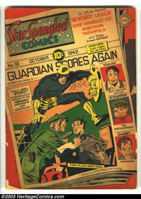 Star Spangled Comics #13 (DC, 1942) Condition: GD+. Simon and Kirby cover and art. Overstreet 2003 GD 2.0 value = $127...