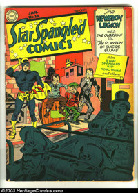 Star Spangled Comics #16 (DC, 1943) Condition: GD. Simon and Kirby cover and art. Overstreet 2003 GD 2.0 value = $127...