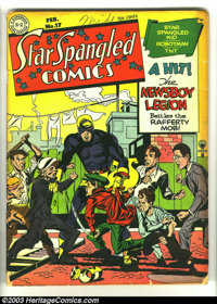 Star Spangled Comics #17 (DC, 1943) Condition: GD/VG. Simon and Kirby cover and art. Overstreet 2003 GD 2.0 value = $127...