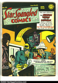Star Spangled Comics #23 (DC, 1943) Condition: GD+. Simon and Kirby cover and art. Overstreet 2003 GD 2.0 value = $106...