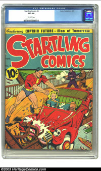 Startling Comics #9 (Better Publications, 1941) CGC FN 6.0 Off-white pages. Features Captain Future, Man of Tomorrow. Ov...
