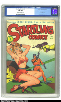 Startling Comics #47 (Better Publications, 1947) CGC FN+ 6.5 Cream to off-white pages. Fantastic bondage cover by Alex S...