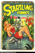Golden Age (1938-1955):Adventure, Startling Comics #49 (Better Publications, 1948) Condition: PR. Classic Schomburg robot-carrying-bound-girl cover. Missing a...