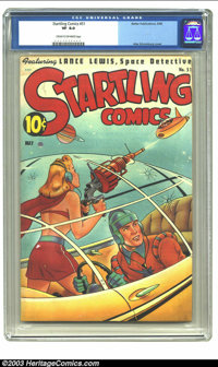 Startling Comics #51 (Better Publications, 1948) CGC VF 8.0 Cream to off-white pages. Features Lance Lewis, Space Detect...