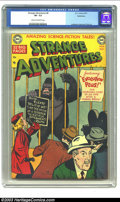 Golden Age (1938-1955):Science Fiction, Strange Adventures #8 Bethlehem pedigree (DC, 1951) CGC VF- 7.5Cream to off-white pages. This is the famous gorilla cover t...