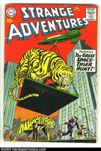 Strange Adventures Lot (DC, 1950s) Condition: average VG. This lot contains 5 cool issues, #115, 120, 121, 123, 164. Ove...