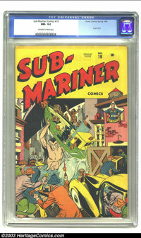 Sub-Mariner Comics #19 (Timely, 1946) CGC NM- 9.2 Off-white to white pages. Angel story. Overstreet 2003 NM 9.4 value =...