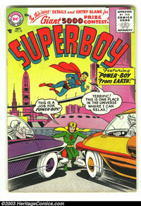 Superboy #52 (DC, 1956) Condition: FN+. First Silver Age issue. Overstreet 2003 FN 6.0 value = $60