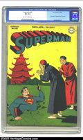 "Golden Age (1938-1955):Superhero, Superman #45 (DC, 1947) CGC VF+ 8.5 Off-white to white pages. Lois Lane is ""Superwoman"" in a story; Jack Burnley art. Overst..."