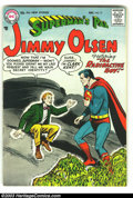 Silver Age (1956-1969):Superhero, Superman's Pal Jimmy Olsen #17 (DC, 1956) Condition: FN+. Nice, early Silver Age book with off-white pages and no tanning at...
