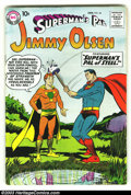 Silver Age (1956-1969):Superhero, Superman's Pal Jimmy Olsen #34 (DC, 1959) Condition: FN+. Nice, early Silver Age book with off-white pages and no tanning at...