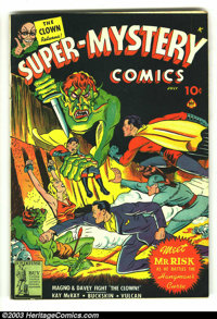 Super-Mystery Comics Vol. 3 #2 (Ace, 1942) Condition: GD/VG. Terrific Magno bondage cover. Coupon cut back cover, otherw...
