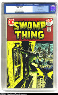 Bronze Age (1970-1979):Superhero, Swamp Thing #7 (DC, 1973) CGC NM- 9.2 Off-white to white pages. Batman appearance. Berni Wrightson cover and artwork. Overst...