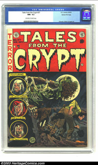 Tales From the Crypt #37 Gaines File pedigree 3/11 (EC, 1953) CGC NM- 9.2 Off-white to white pages. An undead zombie ris...