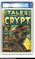 Golden Age (1938-1955):Horror, Tales From the Crypt #38 Gaines File pedigree 3/12 (EC, 1953) CGCNM- 9.2 Cream to off-white pedigree. This is a most brutal...