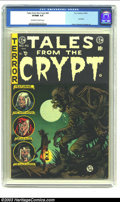 Golden Age (1938-1955):Horror, Tales From the Crypt #46 (EC, 1955) CGC VF/NM 9.0 Off-white towhite pages. Low distribution; last issue; Davis, Orlando and...