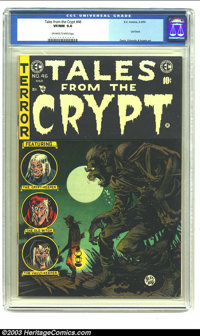 Tales From the Crypt #46 (EC, 1955) CGC VF/NM 9.0 Off-white to white pages. Low distribution; last issue; Davis, Orlando...