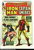 Silver Age (1956-1969):Superhero, Tales of Suspense #59 (Marvel, 1964) Condition: VG+. Iron Man/Captain America double-feature begins this issue; first Silver...