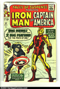Tales of Suspense #59 (Marvel, 1964) Condition: VG+. Iron Man/Captain America double-feature begins this issue; first Si...