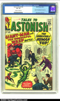Silver Age (1956-1969):Superhero, Tales to Astonish #50 (Marvel, 1963) CGC VF+ 8.5 Off-white to white pages. Origin and first appearance Human Top; Kirby, Dit...