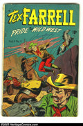 Golden Age (1938-1955):Western, Tex Farrell #1 (D.S. Publishing, 1948) Condition: GD/VG. Overstreet 2003 GD 2.0 value = $16; VG 4.0 value = $32....