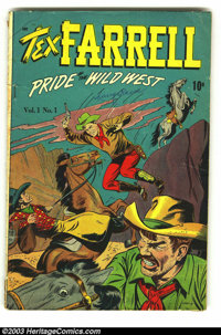 Tex Farrell #1 (D.S. Publishing, 1948) Condition: GD/VG. Overstreet 2003 GD 2.0 value = $16; VG 4.0 value = $32