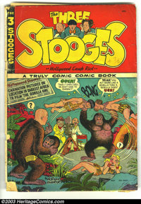 Three Stooges #2 (St. John, 1949) Condition: GD-. Scarce; Kubert and Maurer artwork. Centerfold detached; cover almost d...