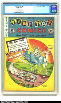 """Tiny Tot Comics #9 (EC, 1947) CGC VG/FN 5.0 Cream to off-white pages. Early humorous EC. 1"""" tear on last 4 pages. O..."""