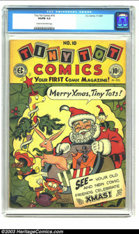 Tiny Tot Comics #10 (EC, 1947) CGC VG/FN 5.0 Cream to off-white pages. Early EC. Overstreet 2002 VG 4.0 value = $40; FN...