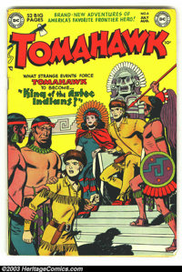 Tomahawk #6 (DC, 1951) Condition: VG. Great-looking early issue. Overstreet 2003 VG 4.0 value = $66