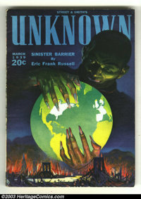 Unknown Pulps Vol. 1 #1 and Vol. 3 #3 (Street & Smith, 1939) Condition: FN/VF. Two beautiful pulps in almost unheard...