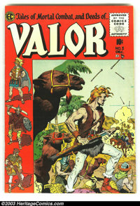 Valor #5 (EC, 1955) Condition: FN+. Last gasp for EC. Art by Wally Wood, Al Williamson and George Evans. Overstreet 2003...