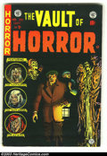 Golden Age (1938-1955):Horror, Vault of Horror #38 (EC, 1954) Condition: FN. The black cover makesthis one super tough in high-grade. Overstreet 2003 FN 6...