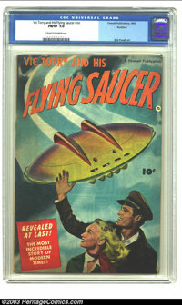 Vic Torry & His Flying Saucer #nn Rockford pedigree (Fawcett, 1950) CGC FN/VF 7.0 Cream to off-white pages. Bob Powe...
