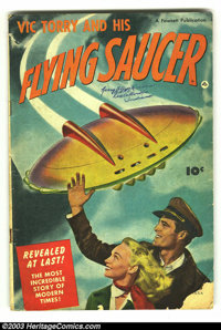 Vic Torry & His Flying Saucer #nn (Fawcett, 1950) Condition: GD. Book-length saucer story by Powell; photo/painted c...