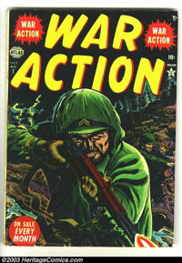 War Action #7 (Atlas, 1952) Condition: VG+. Russ Heath cover art. Overstreet 2003 VG 4.0 value = $18
