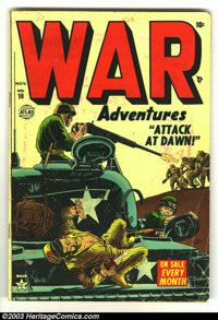 War Adventures #10 and #11 (Atlas, 1952) Condition: GD/VG. Jerry Robinson cover on #10. Overstreet 2003 value for group...